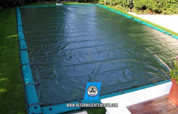 Swimming pool cover en Tenerife high quality Made in Italy